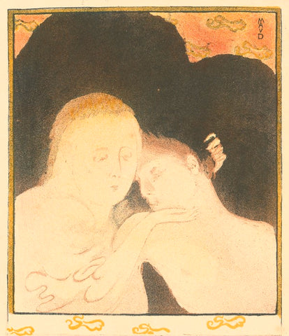 Maurice Denis - Madeleine deux tetes - two heads - tenderness - Estampe Originale