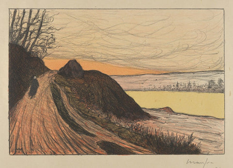 Maxime Maufra - La Route de Gaud - Road - color lithograph - Estampe Originale