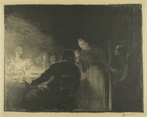 Paul Albert Besnard - L'Intruse - La Visiteuse - The Intruder - The Visitor - lithograph - L'Estampe Originale