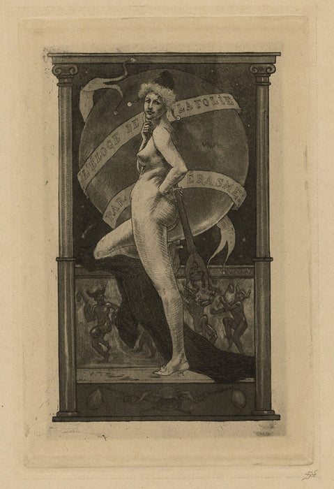 "Armand Rassenfosse - Frontispiece Essay for « In Praise of Folly"" - main"