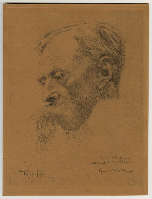 Armand Rassenfosse - Portrait of Emile Verhaeren - main