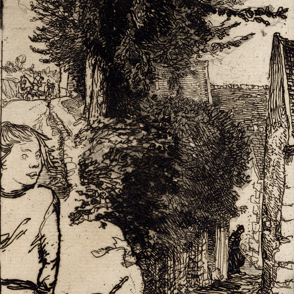 Auguste Lepere - Chemin Creux a Vaureal - etching - detail