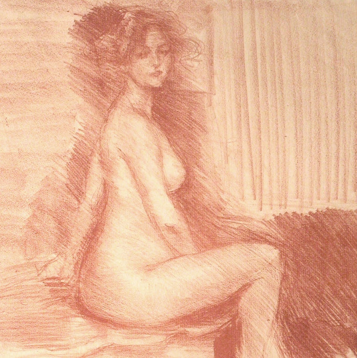 Lithograph - by BELLEROCHE, Albert - titled: Marthe