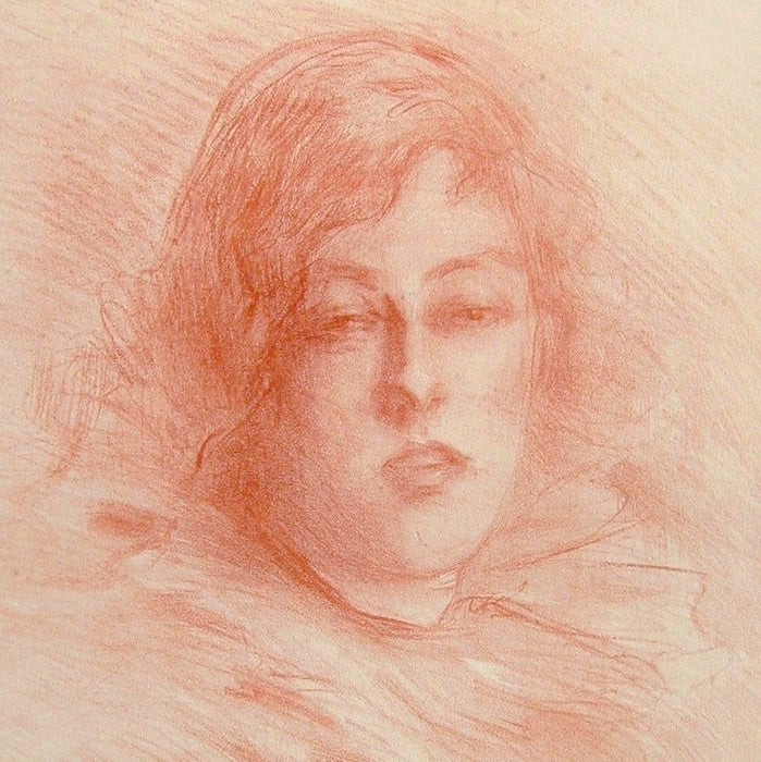 Lithograph - by BELLEROCHE, Albert - titled: Pierette