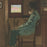 Bernard Boutet de Monvel - Pere Boyer or Vieillard Assis - signature - interior seated old man - color aquatint and soft-ground etching - detail