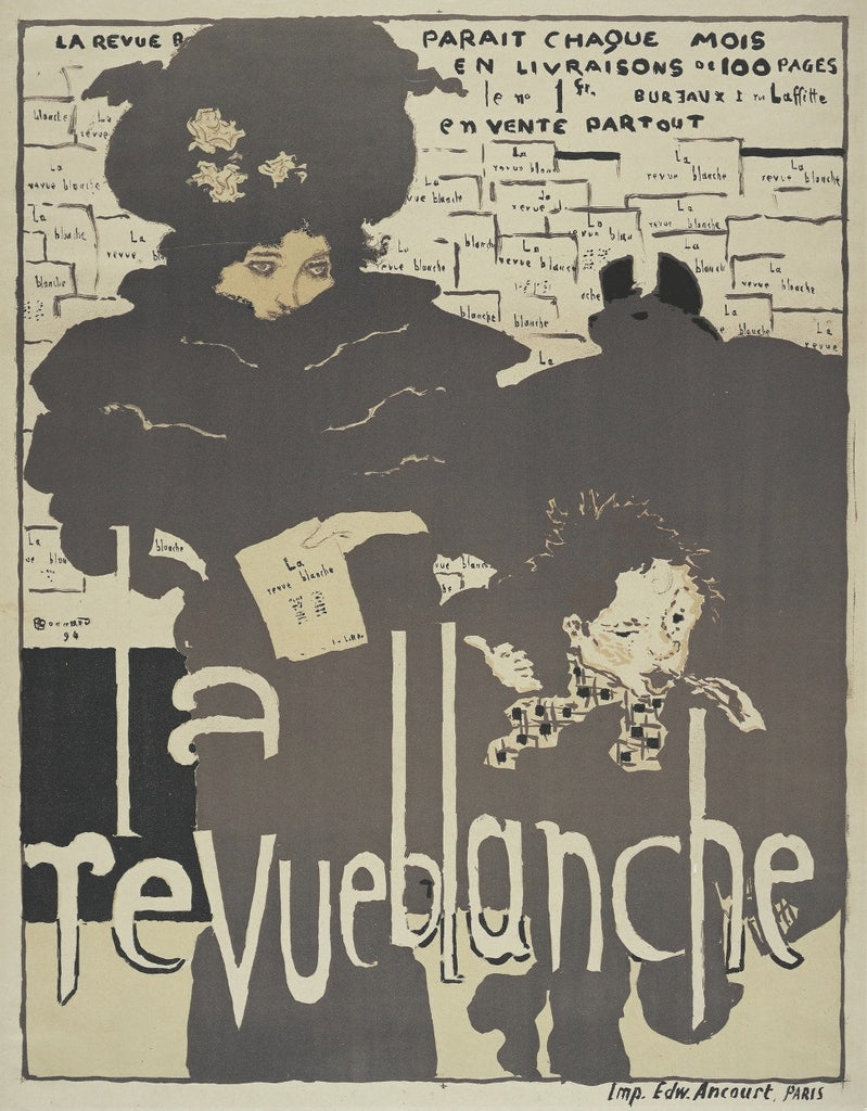 La Revue Blanche - color poster by Pierre Bonnard - affiche en couleurs