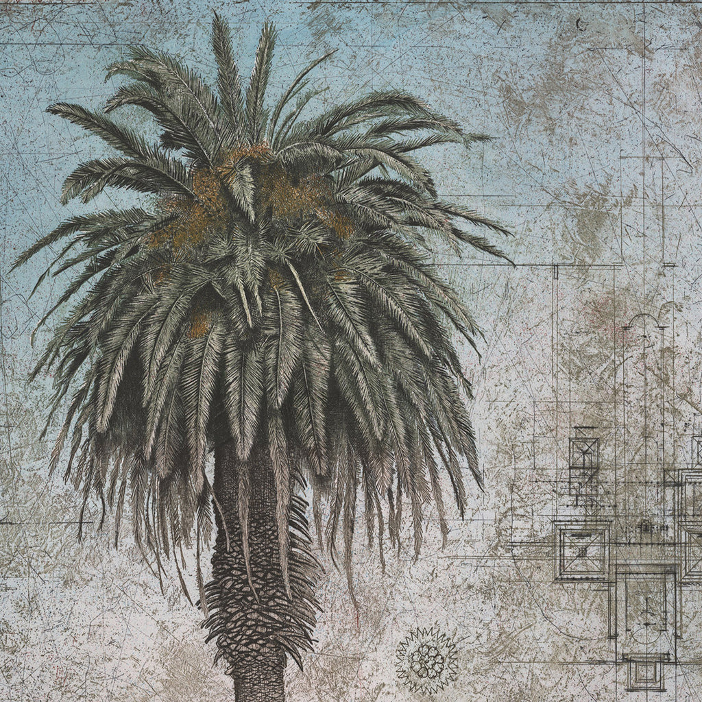 David Smith-Harrison - Royal Palm with Turkish Design - etching