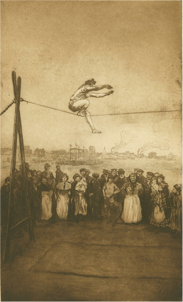 Edgar Chahine - Danseuse de Corde - tightrope walker - Tabanelli 162 - soft ground etching