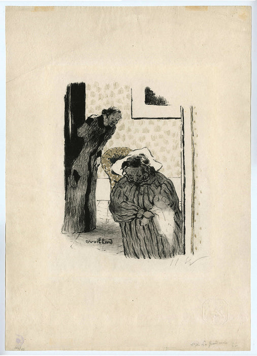 Color lithograph - by VUILLARD, Edouard - titled: Convalescence