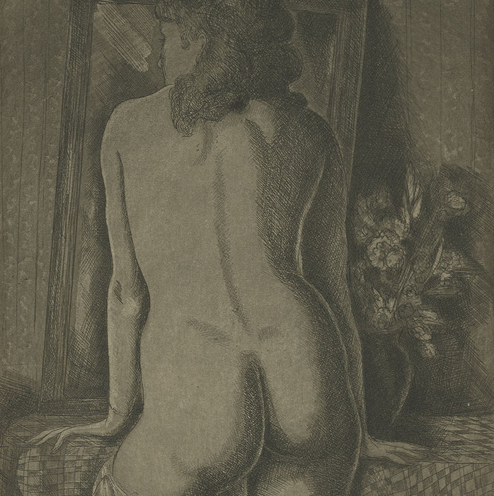 Emil Ganso - Model Standing - The Print Club of Cleveland - nude women from behind - hips - detail