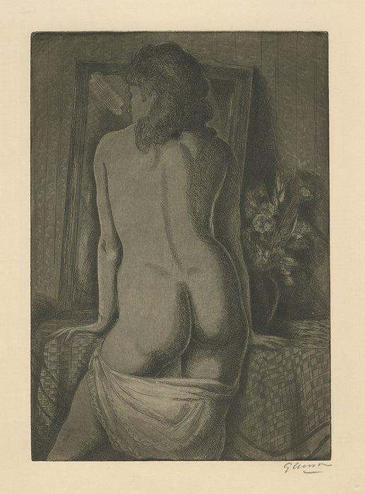 Emil Ganso - Model Standing - The Print Club of Cleveland - nude women from behind - hips