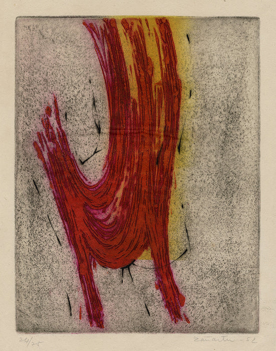Enrique Zanartu - Untitled - abstract red wave - main