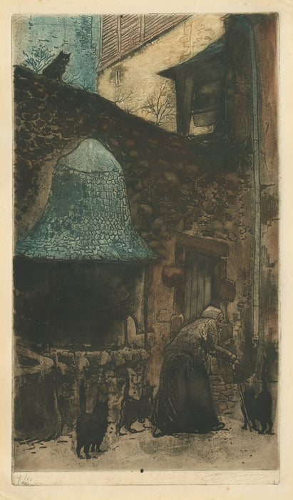 Eugene Delatre - The Old Woman by the Well - main