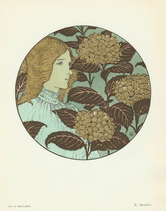 Color lithograph - by GRASSET, Eugene - titled: Coldness