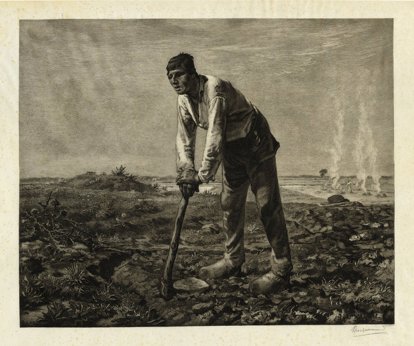 Felix Bracquemond - Labor or The Farmer with the Hoe - main