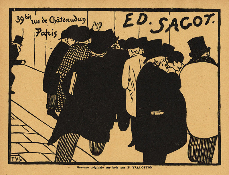 Felix Vallotton - Les Amateurs d'Estampes - Edmond Sagot - rue guenegaud - chateaudun due d'adresses - photo repro