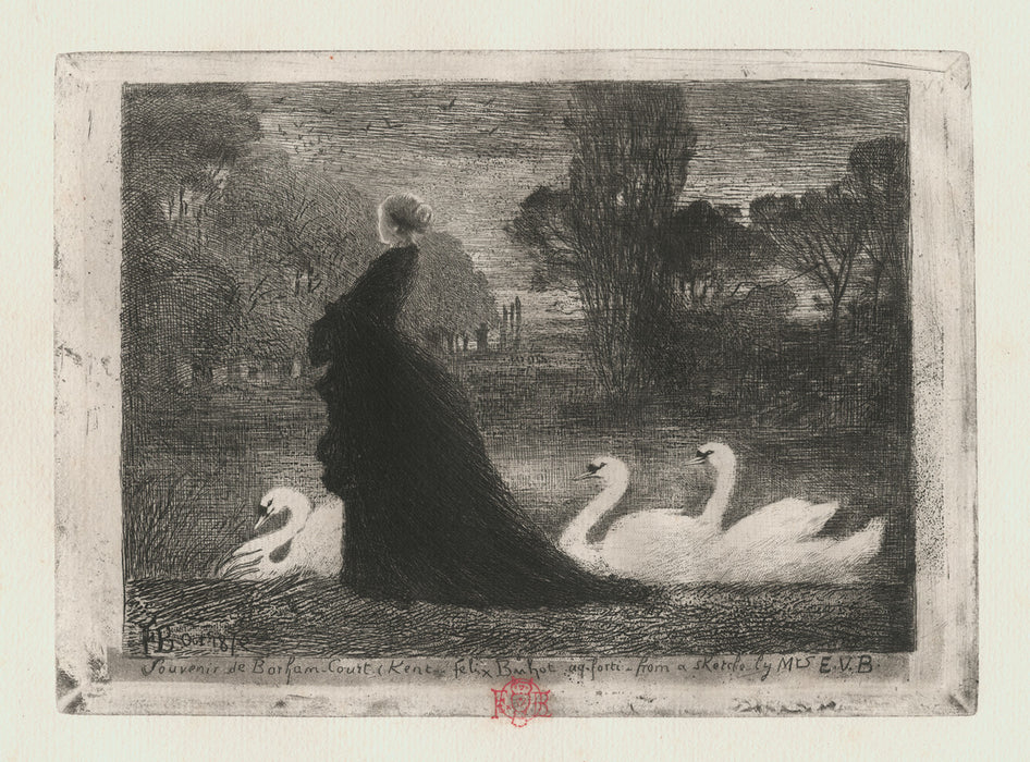 Felix Buhot - The Lady with the Swans - main