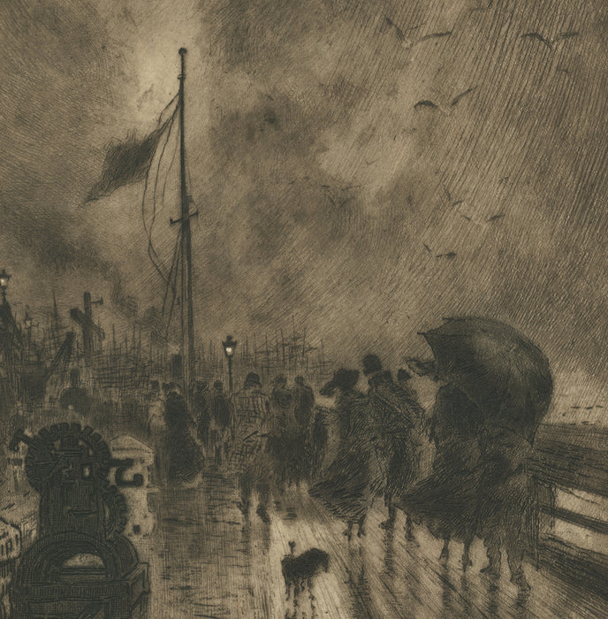 original etching by Felix Buhot