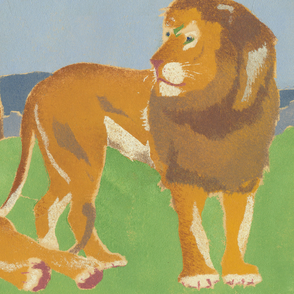 image of lions - artwork of three lions