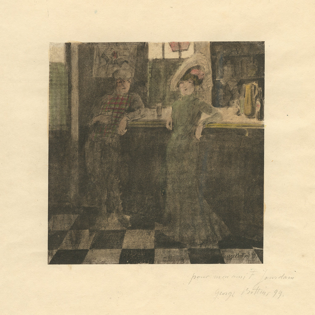 George Bottini - Georges Bottini - Au Bar Anglais - drinking a lager - prositution