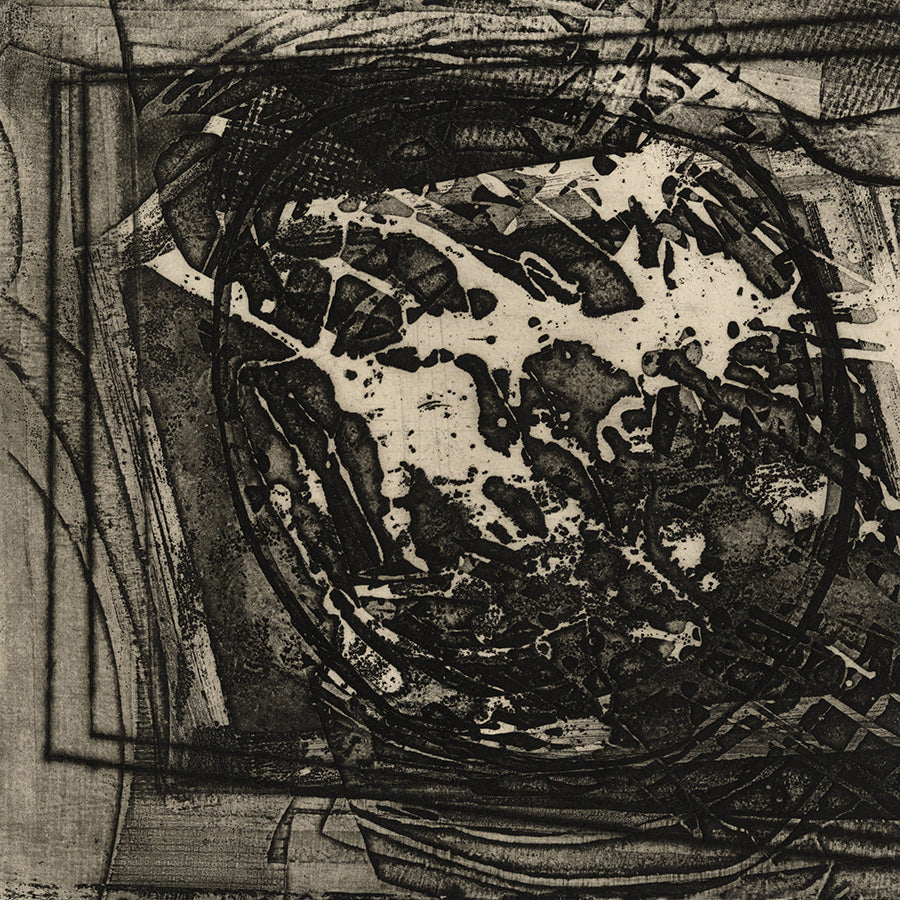 Gil Cowley - 5eme Arrondisment - December 1963 - intaglio - mixed media - detail