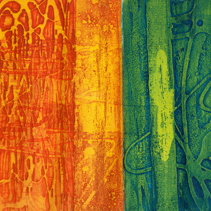 Gil Cowley - Parc de Montssouris - Paris - Atelier 17 - color viscosity - February 1964 - detail