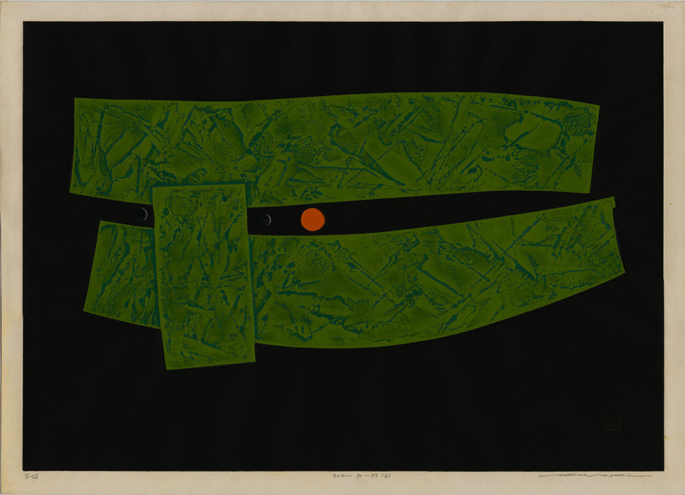 Color woodcut - by MAKI, Haku - titled: Poem 70 - 73