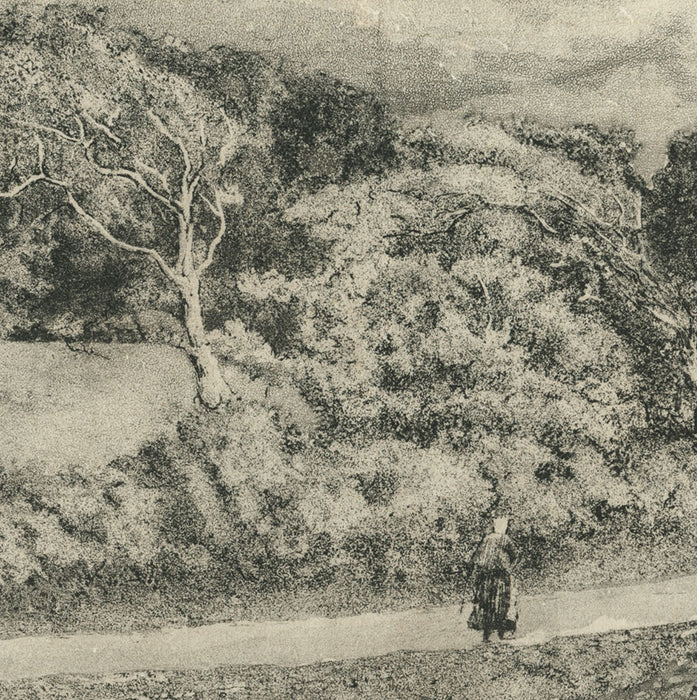 Intaglio - by DELAVALLEE, Henri - titled: The Road to Landemer on La Hague Cape