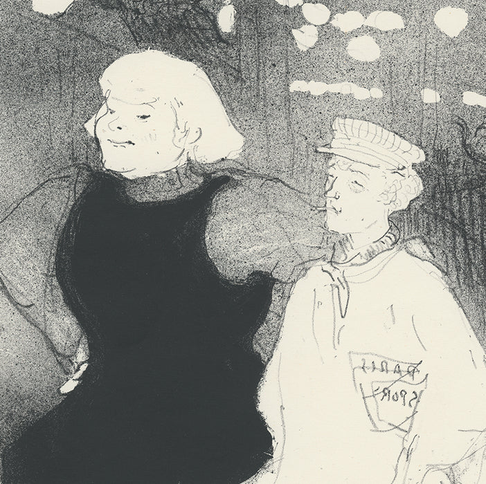 Lithograph - by TOULOUSE-LAUTREC, Henri de - titled: At the Moulin-Rouge: The Franco-Russian Alliance
