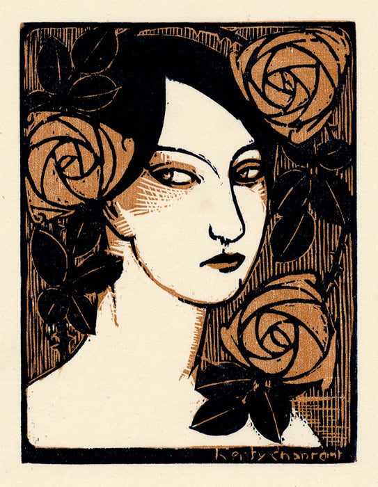 Henry Chapront - Head of a Woman with Roses - main
