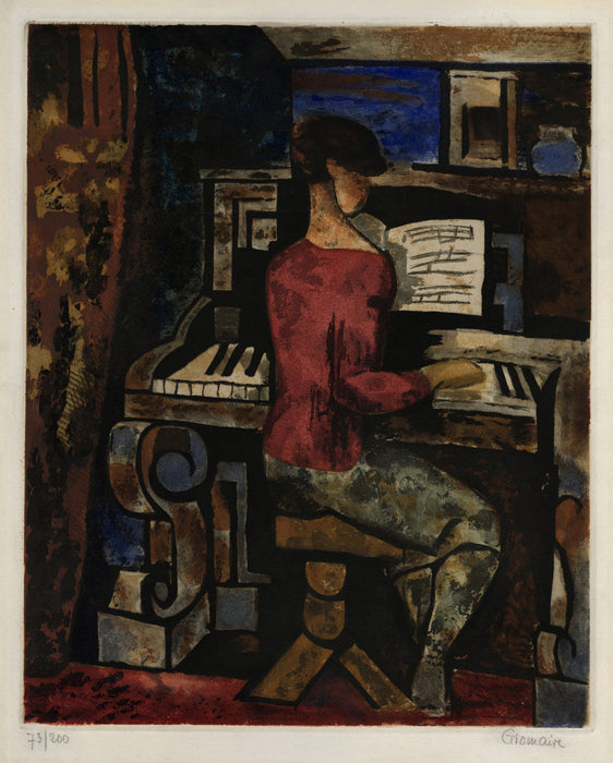 Jacques Villon - Woman at the Piano - main