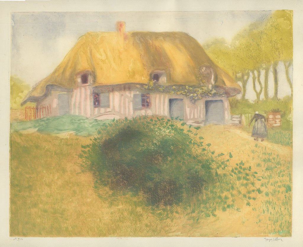 Jacques Villon - Gaston Duchamp - La Ferme de la Bendeliere - Belle Epoque color etching