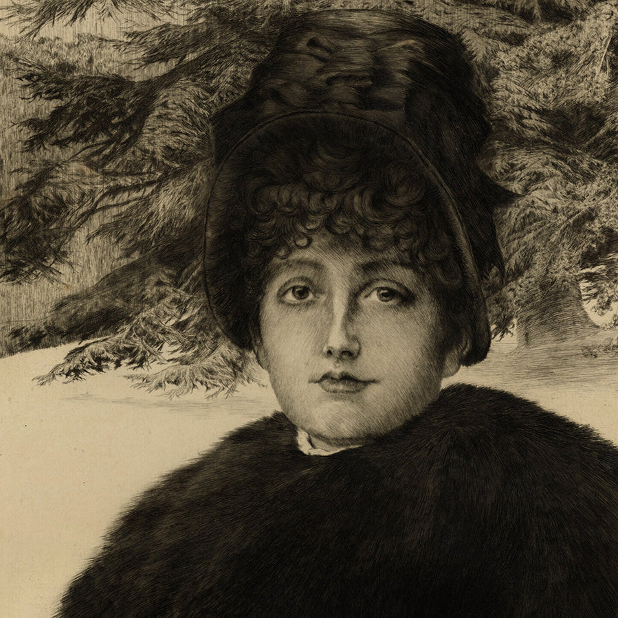James Tissot - Promenade dans la Neige - Winter's Walk - details
