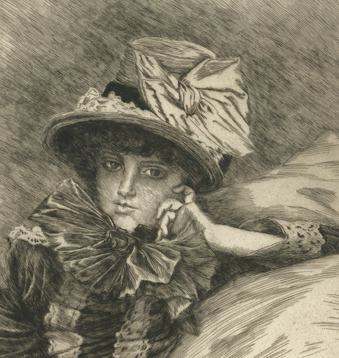 Etching - by TISSOT, James - titled: Berthe