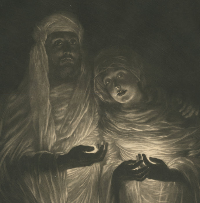 Mezzotint - by TISSOT, James - titled: The Apparition