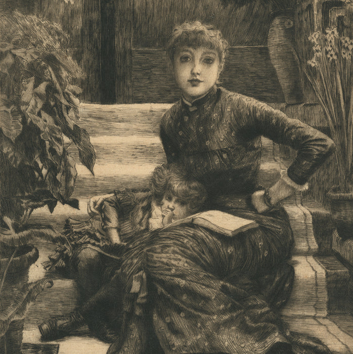 Color etching and drypoint - by TISSOT, James - titled: The Elder Sister