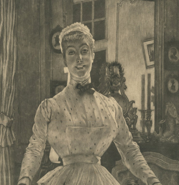 Mezzotint - by TISSOT, James - titled: Morning