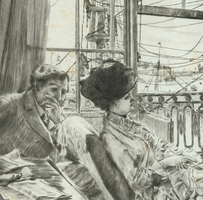 Drypoint - by TISSOT, James - titled: Ramsgate
