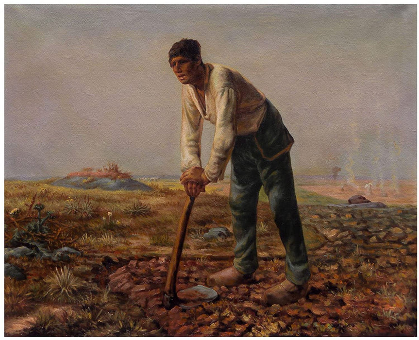 FelJean-Francois Mille - Labor - Le Paysan a la Houe - oil on canvas - Getty Museum