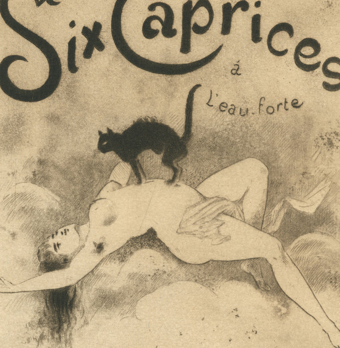 Joseph Apoux - L. Joly - Six Caprices Frontispiece - nude - Etching - detail