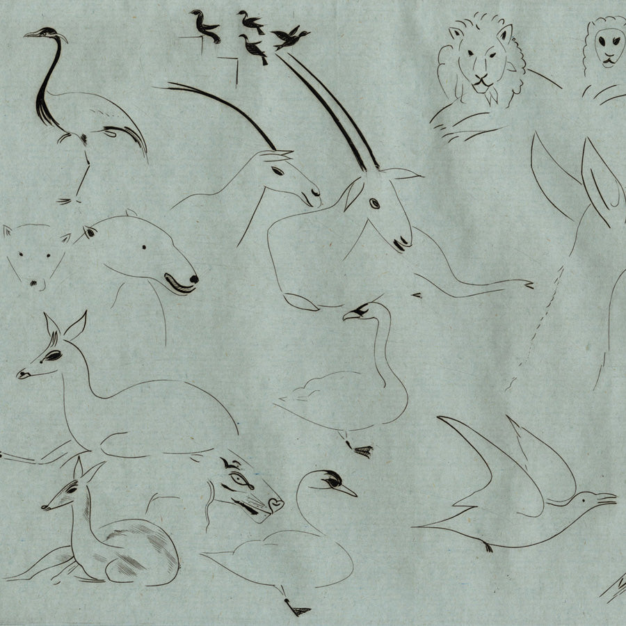 Joseph Hecht - Animaux Divers - Miscellaneous Animals - Engraving, 1929, Atelier 17, Paris.