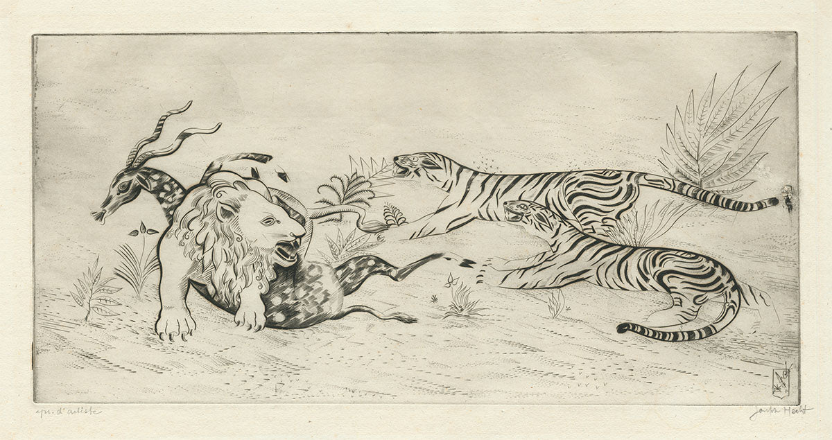 Joseph Hecht - Lion Defending its Prey - main