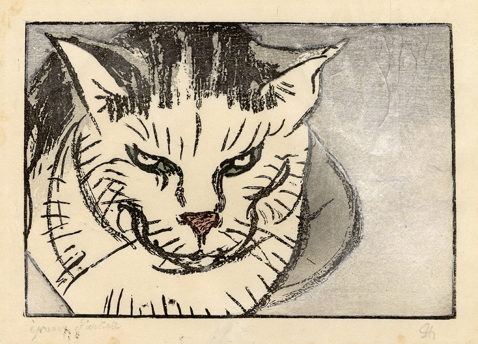 Jules Chadel - Head of a Cat - main