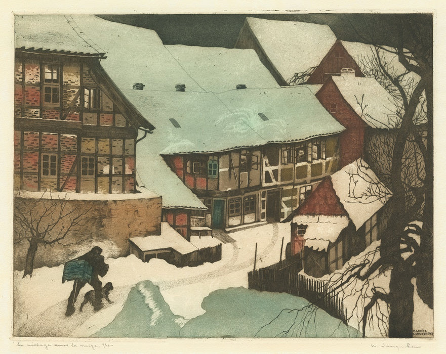 Maurice Langaskens - The Village in the Snow - main