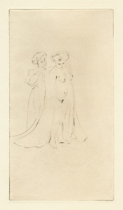 Drypoint - by LEGRAND, Louis - titled: After the Bath