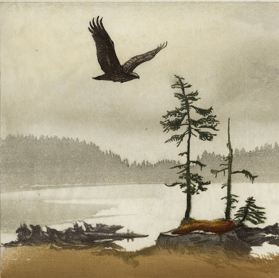 Leo Frank - Hans Frank - Seeadler - Sea Eagle - color woodcut - detail