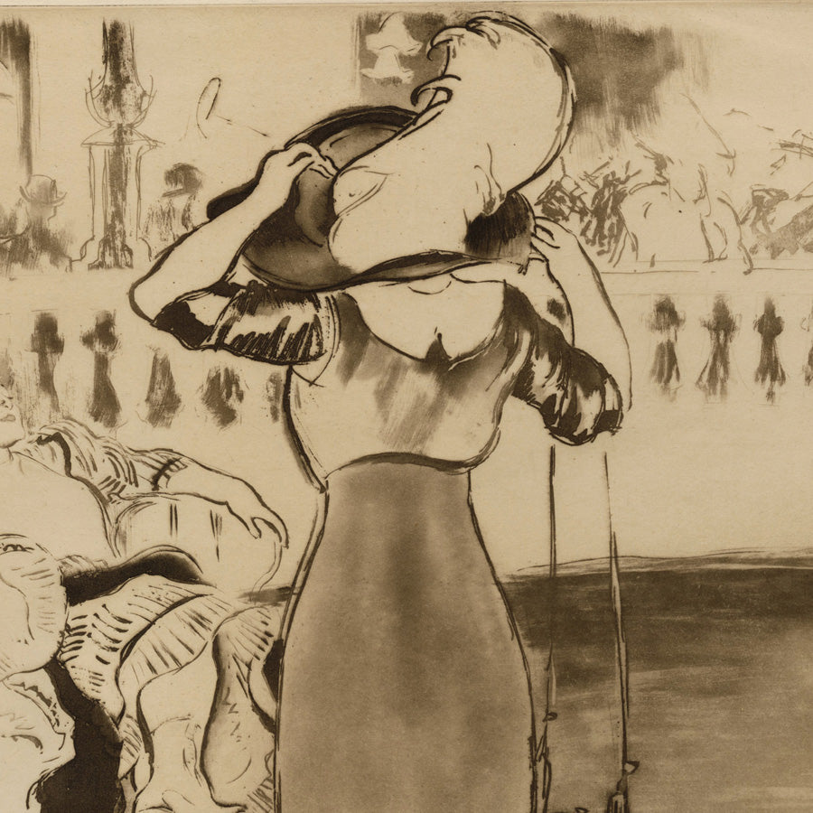 Louis Legrand - Au Bal (original French title)  At the Ball - Aquatint , 1911, Paris.