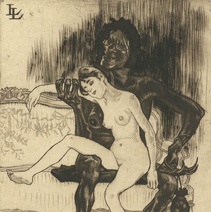 Etching, aquatint and drypoint - by LEGRAND, Louis - titled: Prostitution