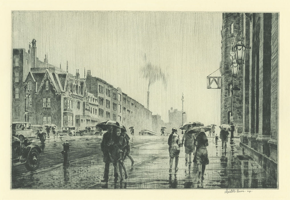 Martin Lewis - Rain on Murray Hill - main