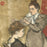 Maurice Delcourt - La Coiffure - Hair Dressing - color woodcut - hair bun - detail